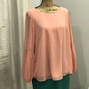 Valerie Stevens coral blouse size XL